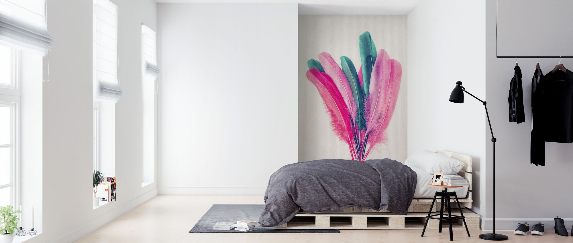 Feather Bouquet - Wallpaper - Bedroom