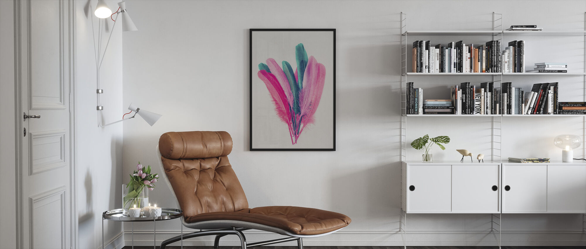 Feather Bouquet - Framed print - Living Room