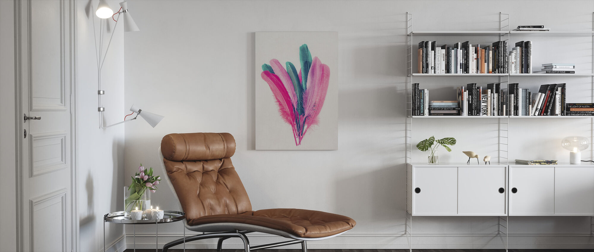 Feather Bouquet - Canvas print - Living Room