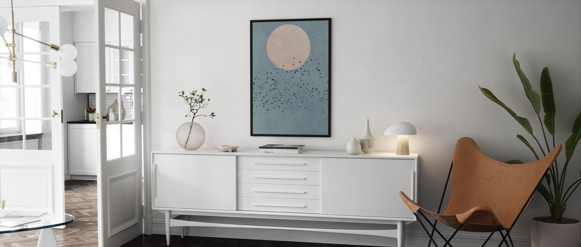 Vliegen weg - Ingelijste print - Woonkamer