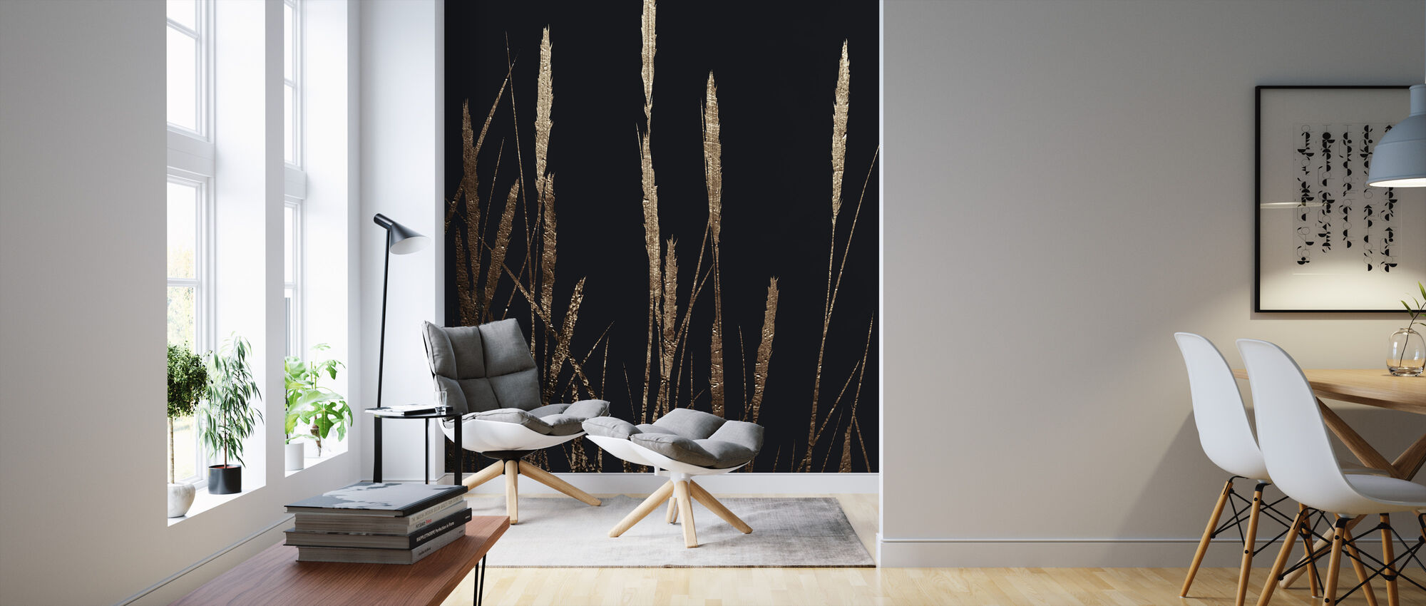 Golden Fields in the Dark - Wallpaper - Living Room
