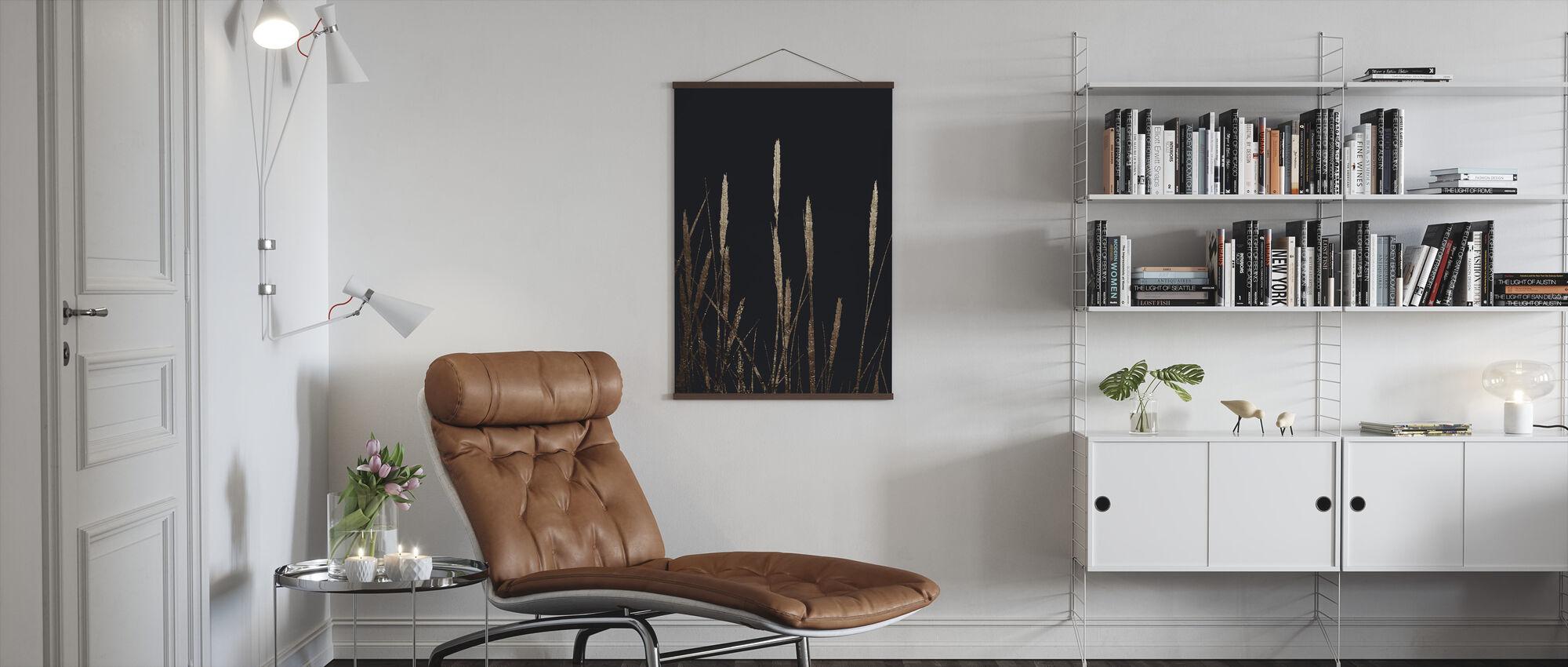 Golden Fields in the Dark - Poster - Living Room