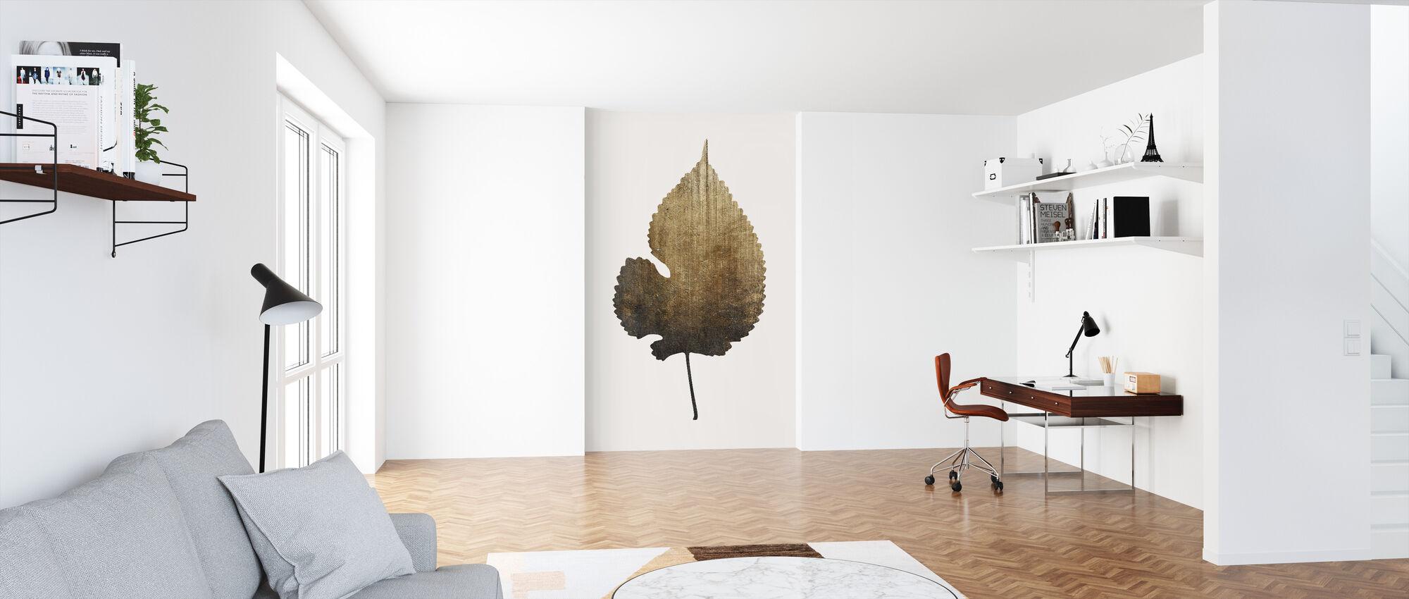 Gouden Blad - Behang - Kantoor