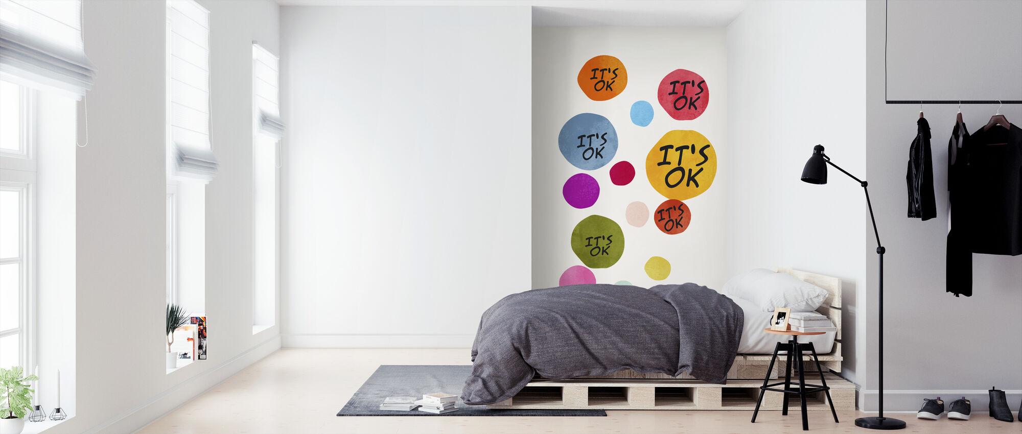 Het is ok - Behang - Slaapkamer