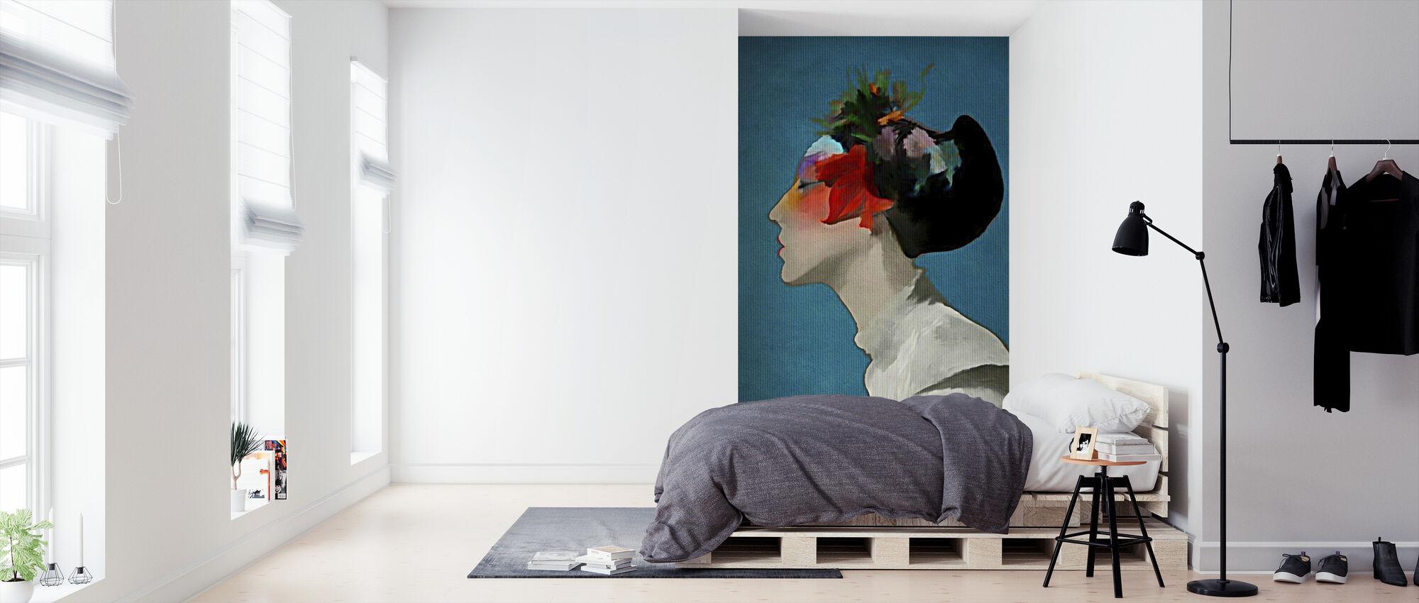 Kimono - Behang - Slaapkamer