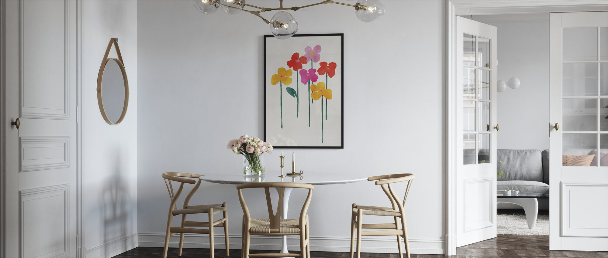 Lite Lykkelige Blomster - Innrammet bilde - Kjøkken