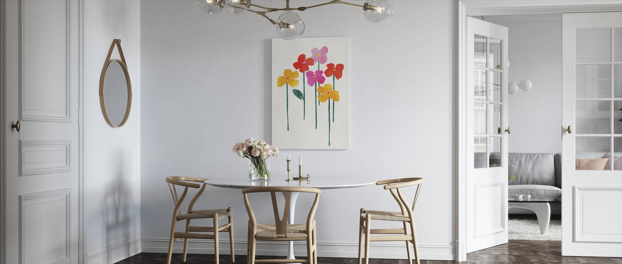 Little Happy Flowers - Canvas print - Kitchen
