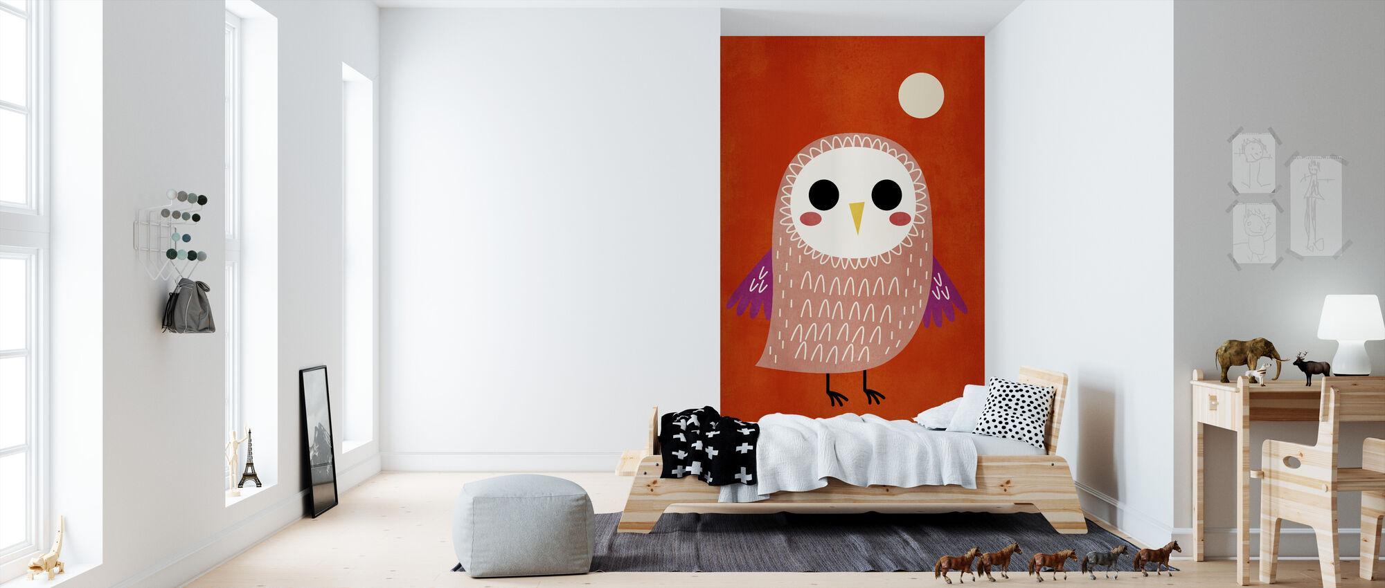 Little Owl - Wallpaper - Kids Room