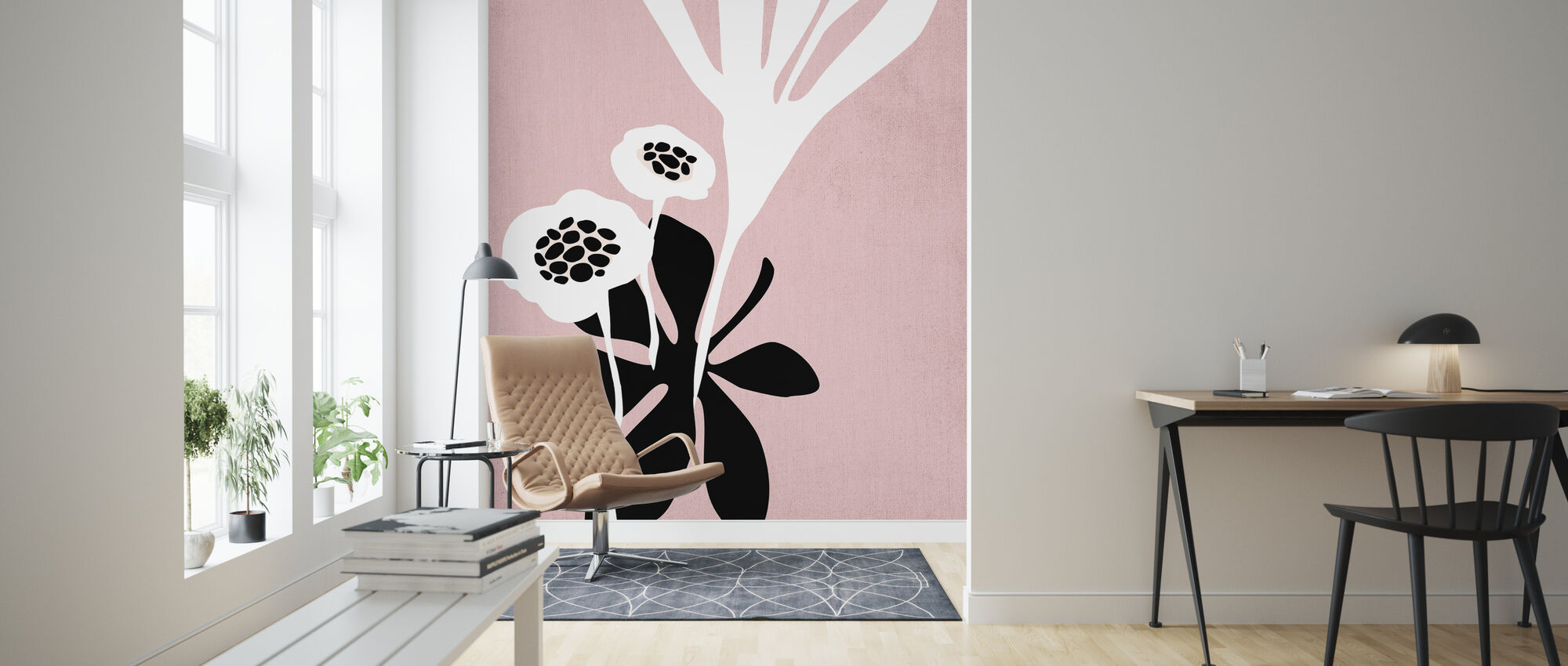 Roze Blossom - Behang - Woonkamer