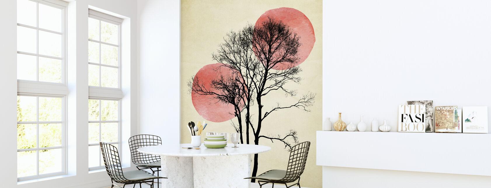 Sun and Moon Hiding - Wallpaper - Kitchen