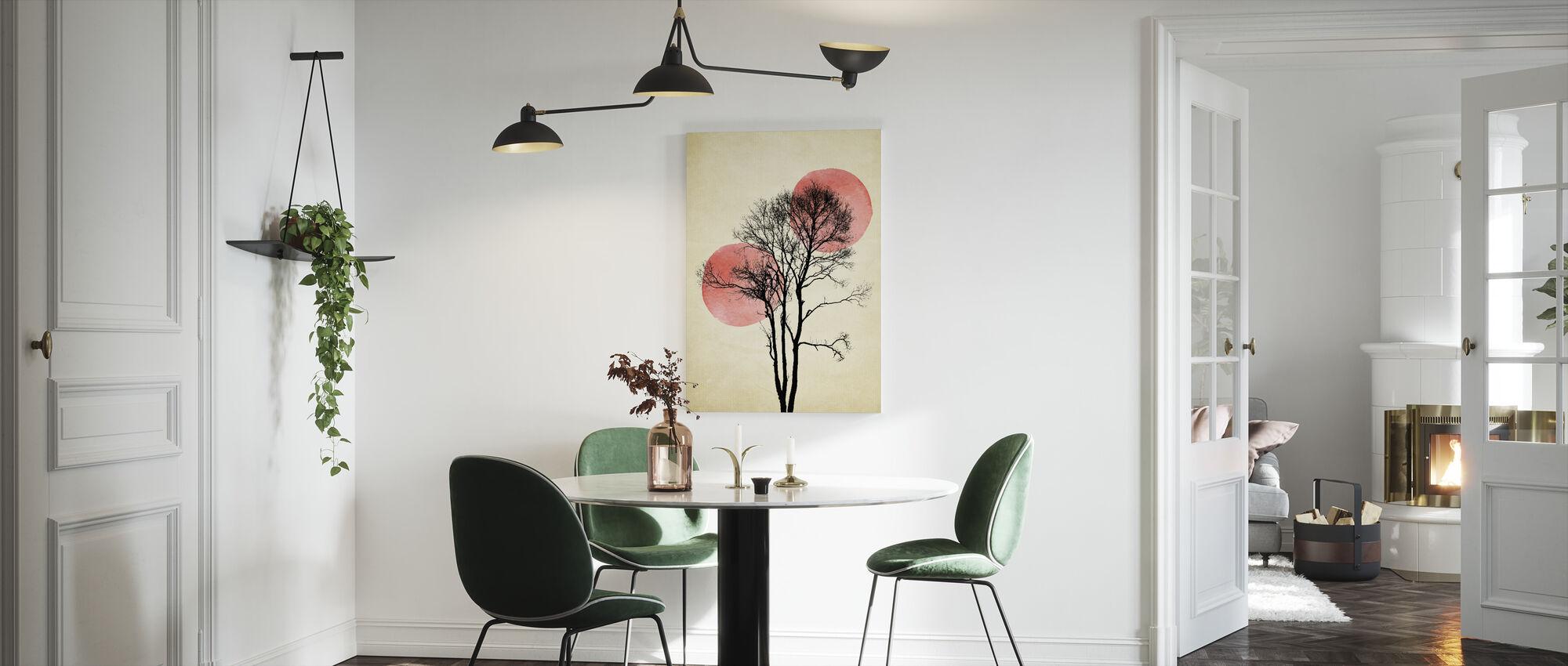 Zon en Maan Verbergen - Canvas print - Keuken