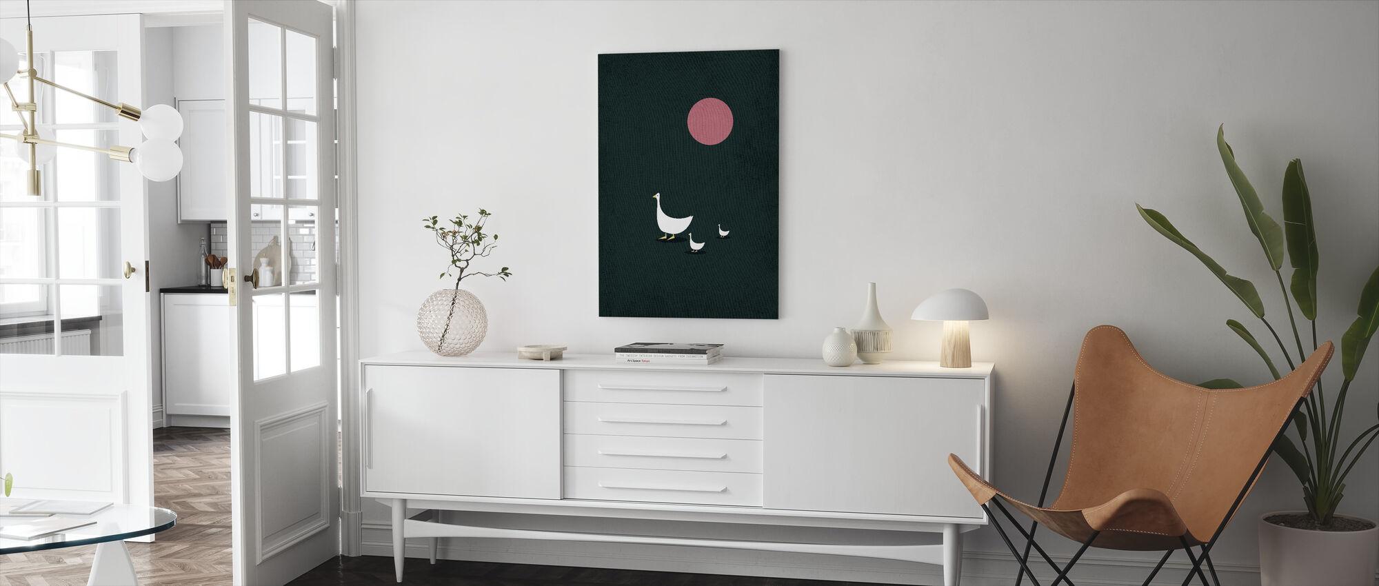 Zonnige kant van het leven - Canvas print - Woonkamer