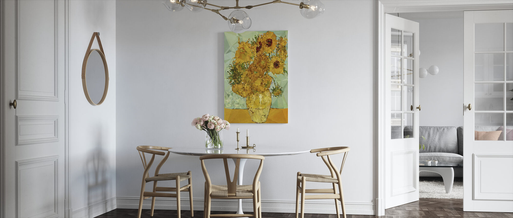 Symphony in Yellow and Blue - Canvas print - Kitchen