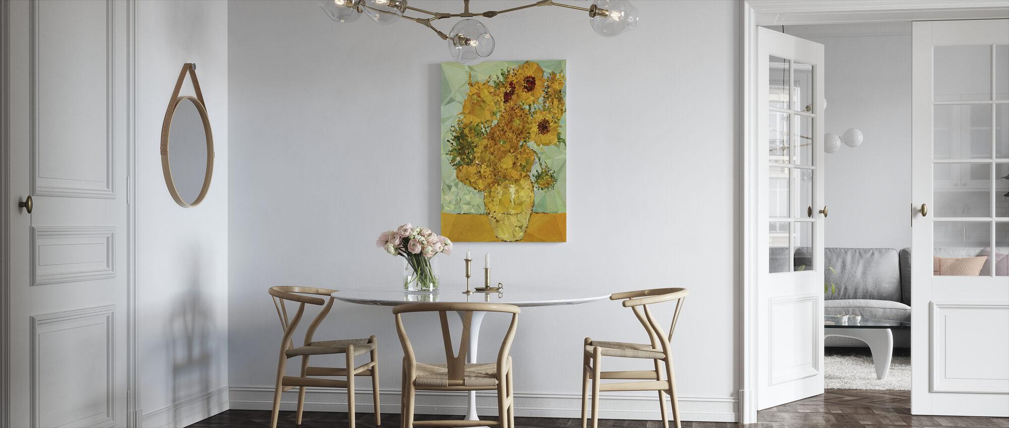 Symfoni i gul og blå - Lerretsbilde - Kjøkken