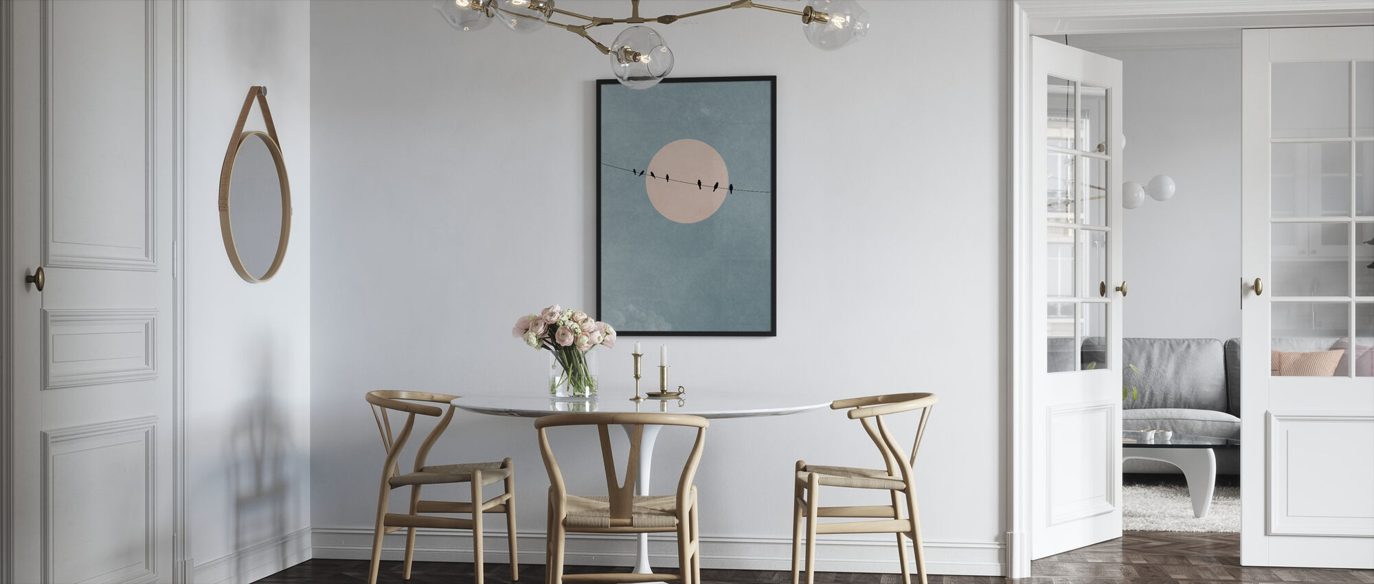 Beauty of Silence - Framed print - Kitchen