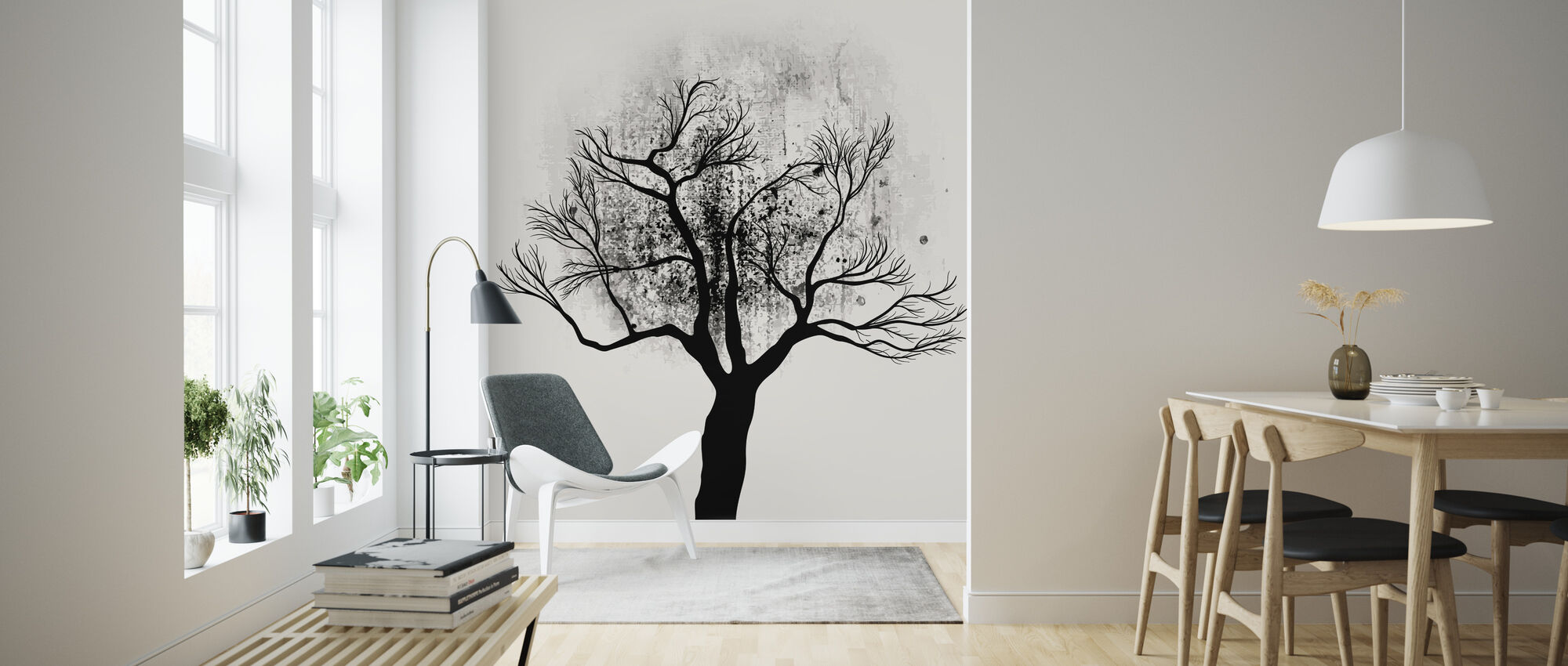 Tree Study No 5 - Wallpaper - Living Room