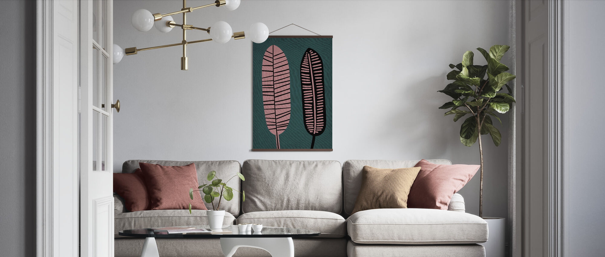 Two Leafs - Poster - Living Room