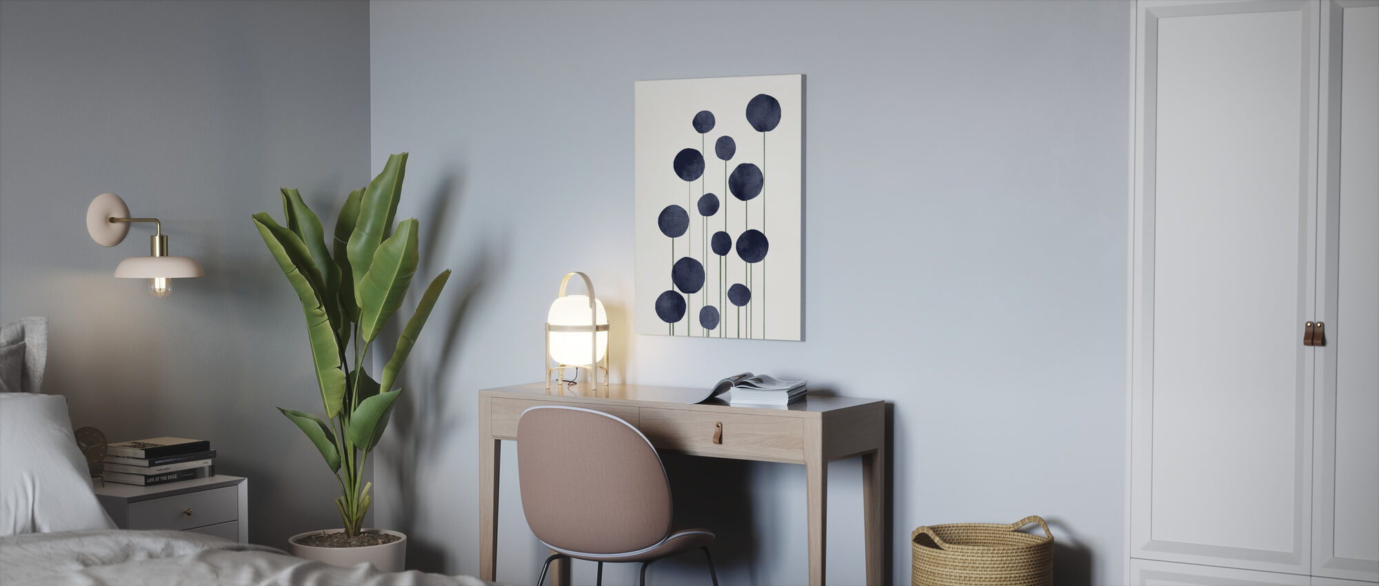 Water Flowers - Canvas print - Office