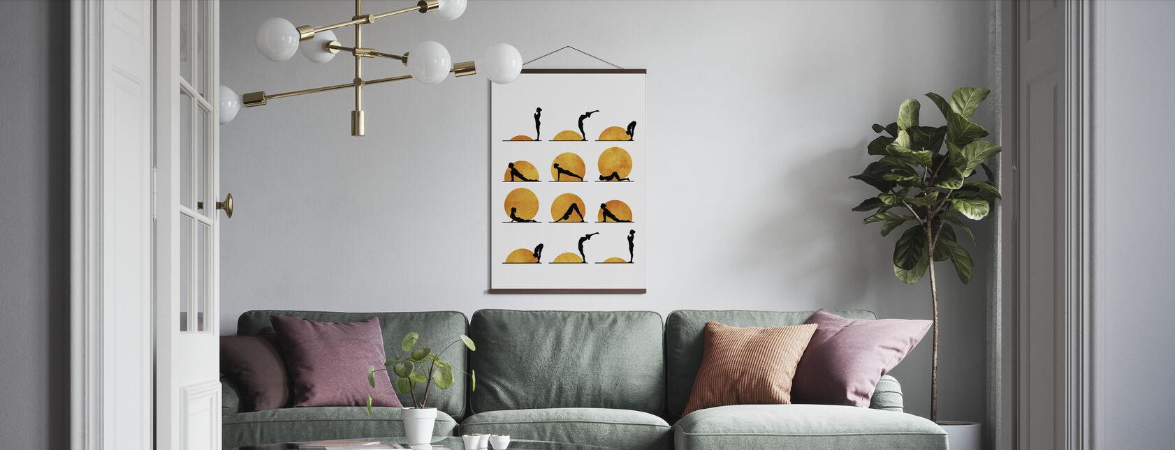Yoga Sun - Poster - Living Room