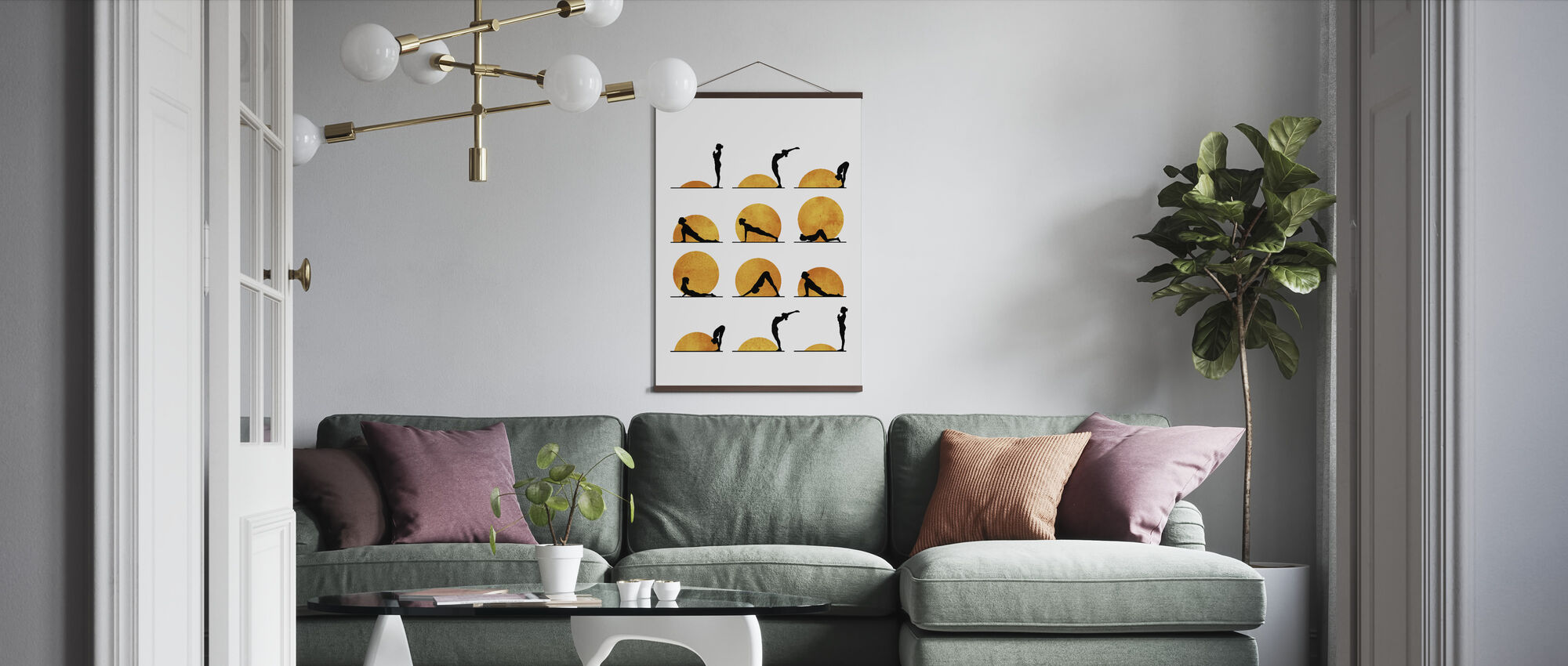Yoga Sun - Poster - Living Room
