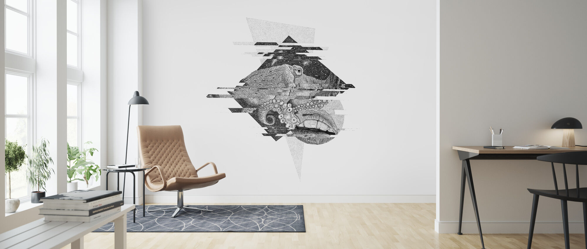 Interrupted Universe I - Wallpaper - Living Room
