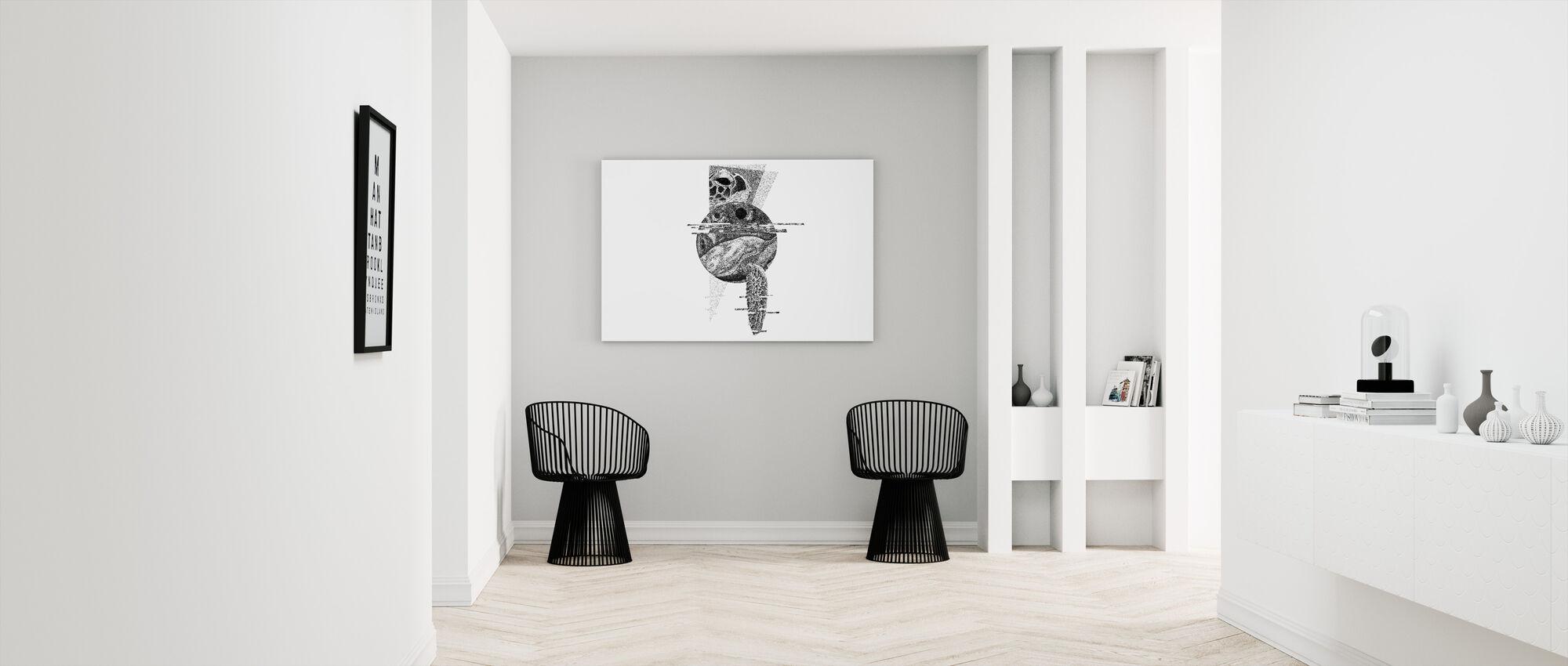 Interrupted Universe II - Canvas print - Hallway
