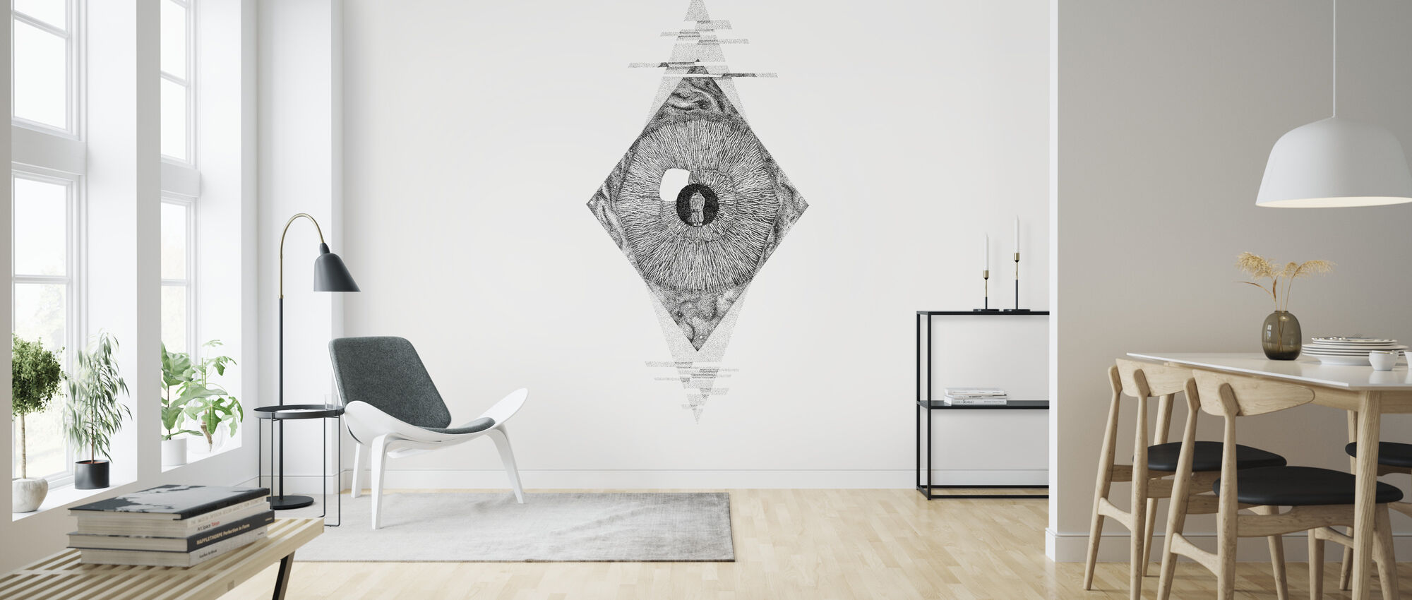 Interrupted Universe IV - Wallpaper - Living Room