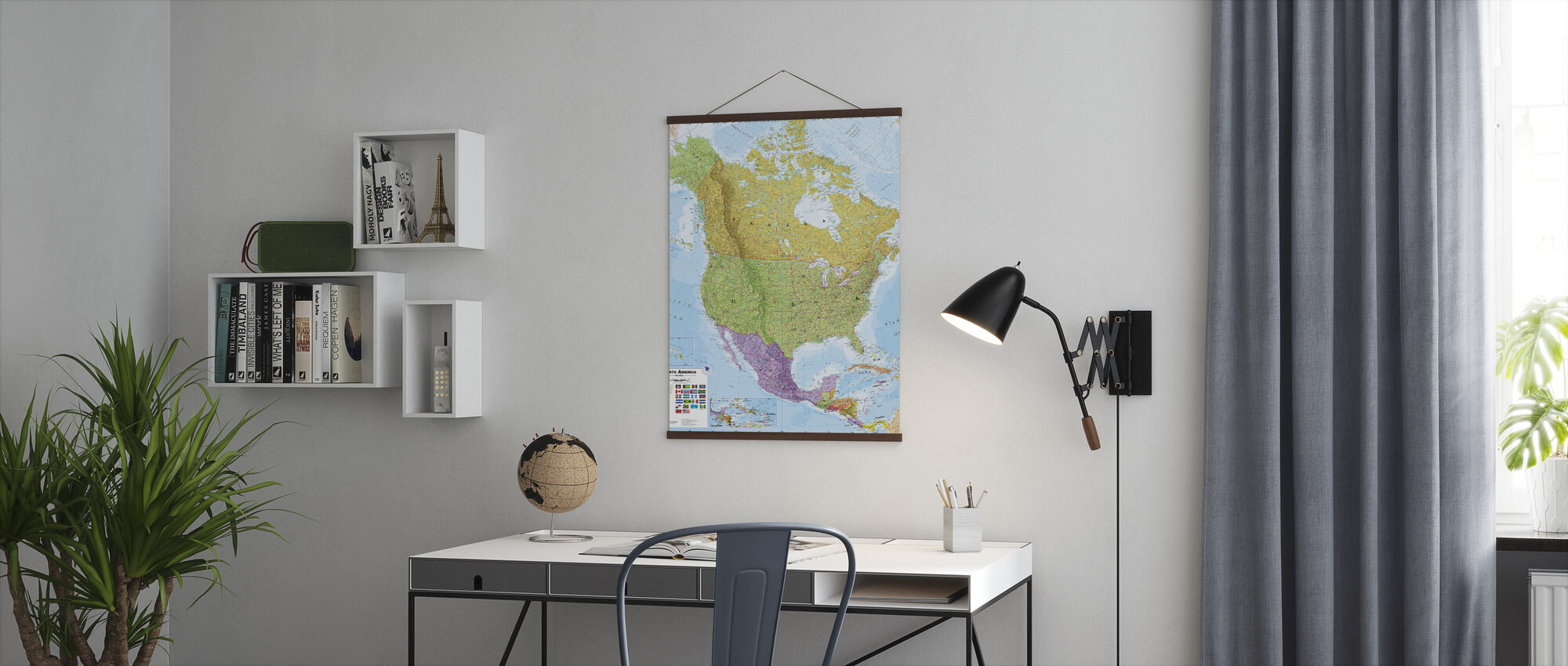 Political North America Map - Poster - Office