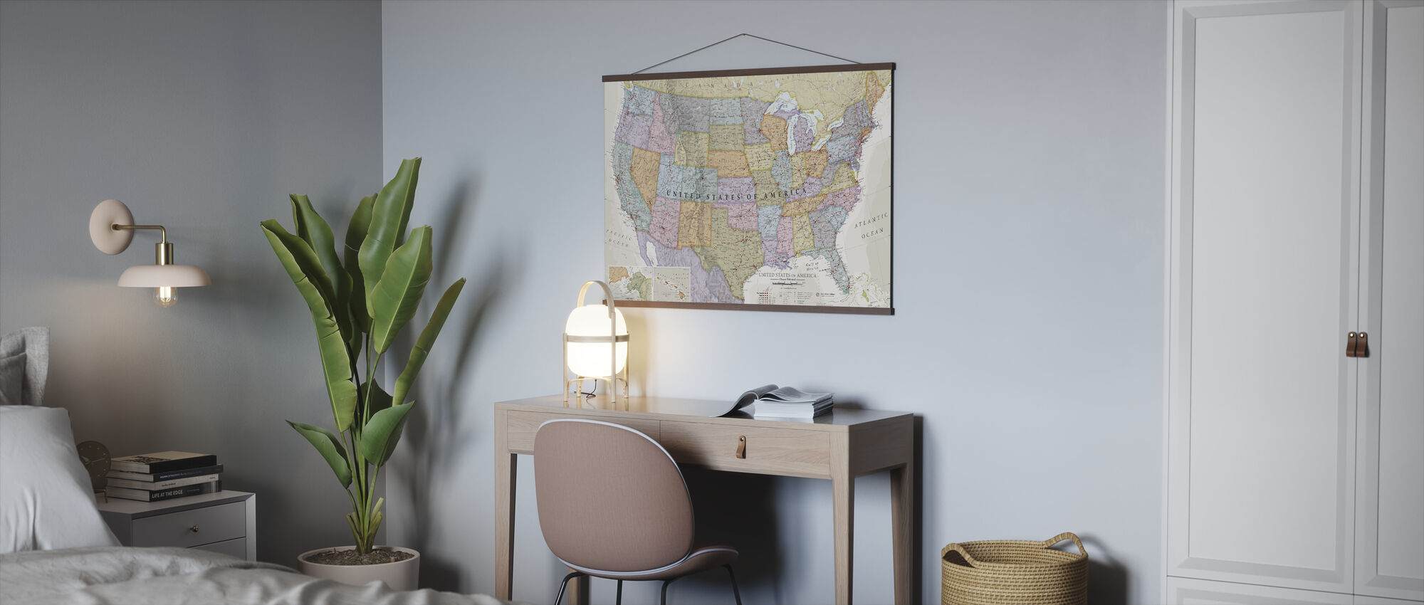 Classic Political USA Map - Poster - Office