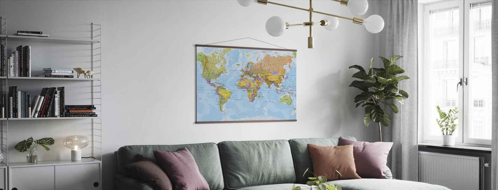 Political World Map - Poster - Living Room