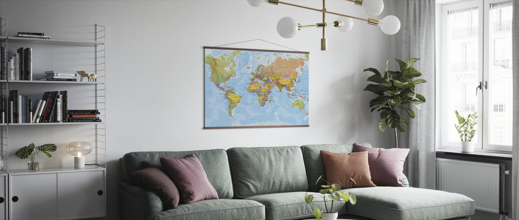 Political World Map - Poster - Living Room