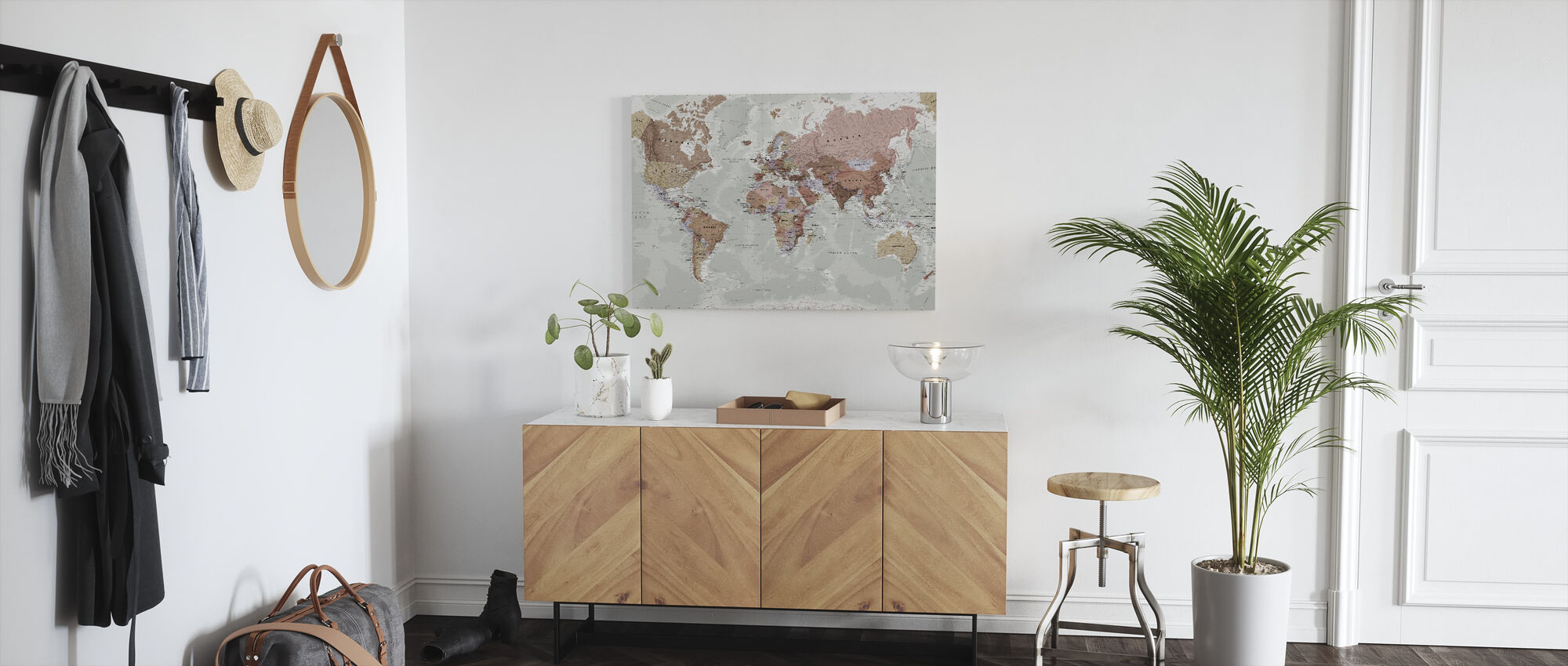Executive Political World Map - Canvas print - Hallway