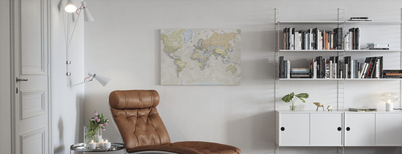 Classic World Map - Canvas print - Living Room