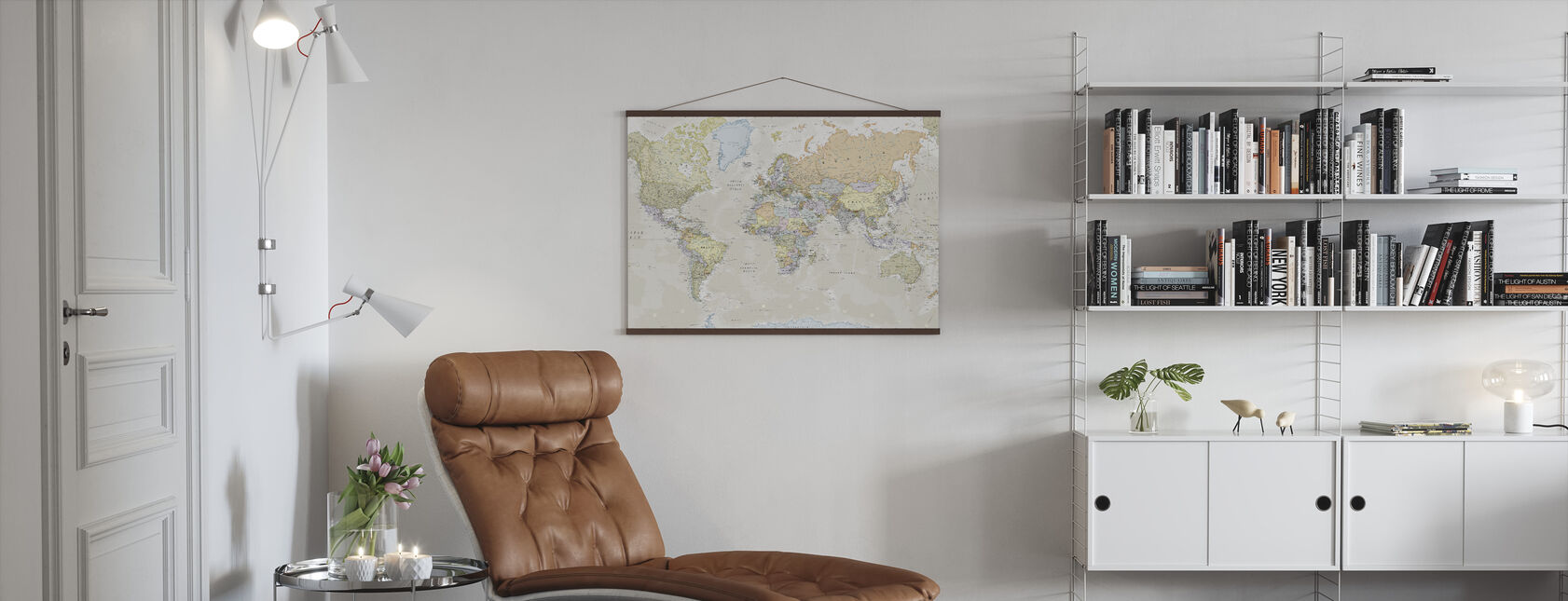 Klassieke wereldkaart - Poster - Woonkamer