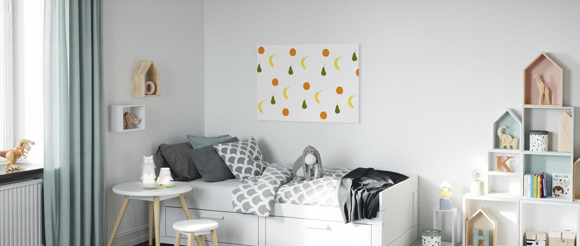 Orange Birne Banane - Leinwandbild - Kinderzimmer