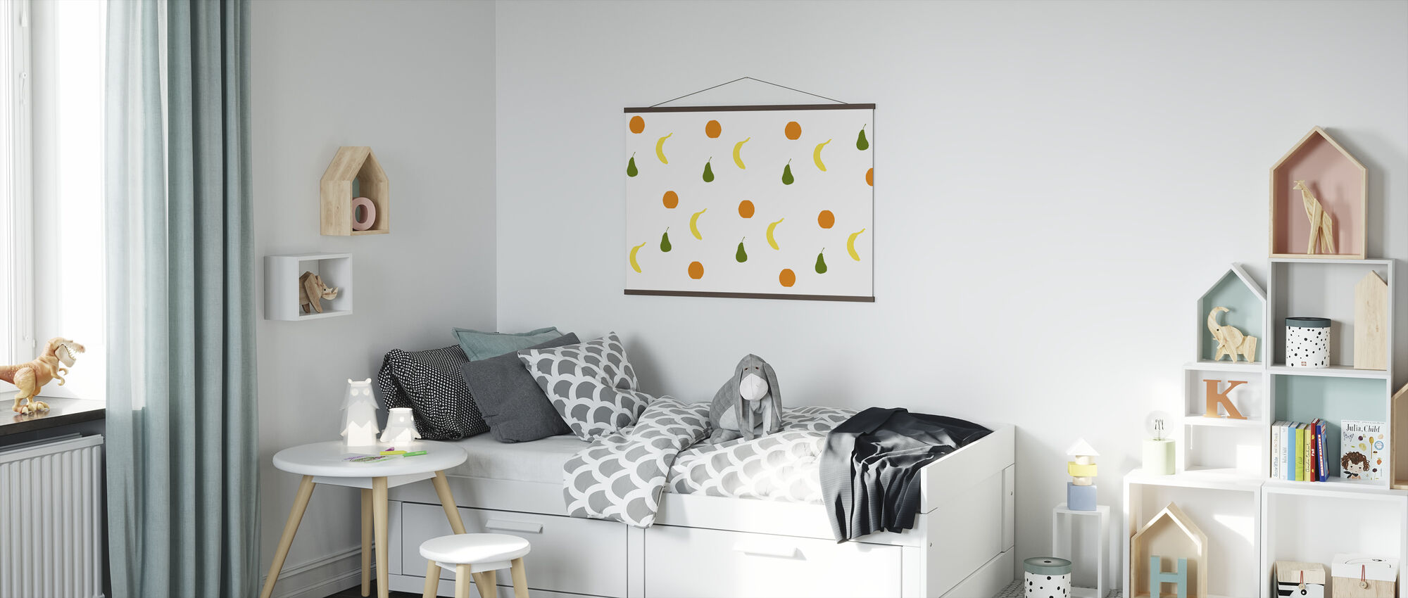 Orange Pære Banan - Plakat - Barnerom