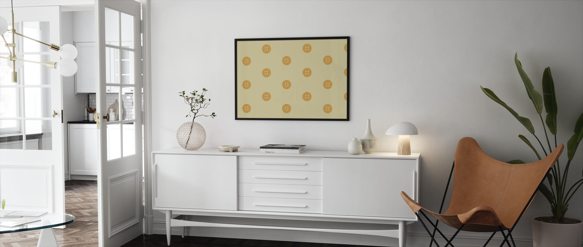 Yellow Buttons - Framed print - Living Room