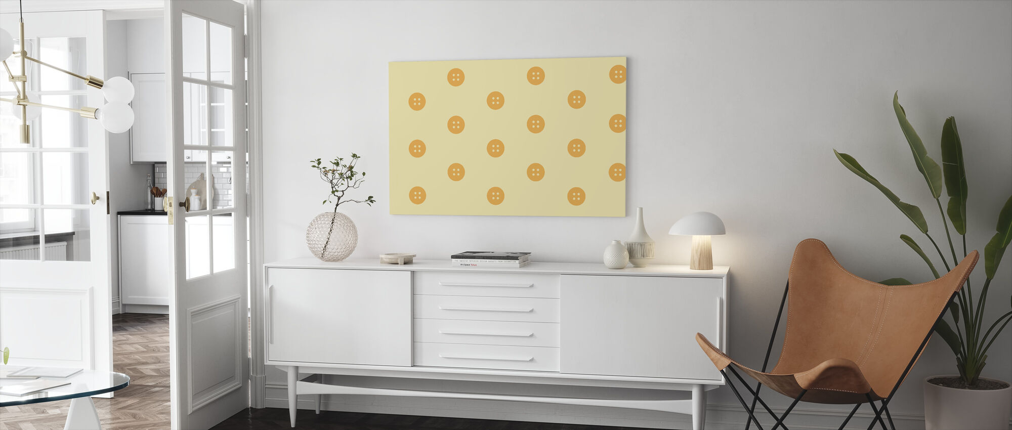 Yellow Buttons - Canvas print - Living Room