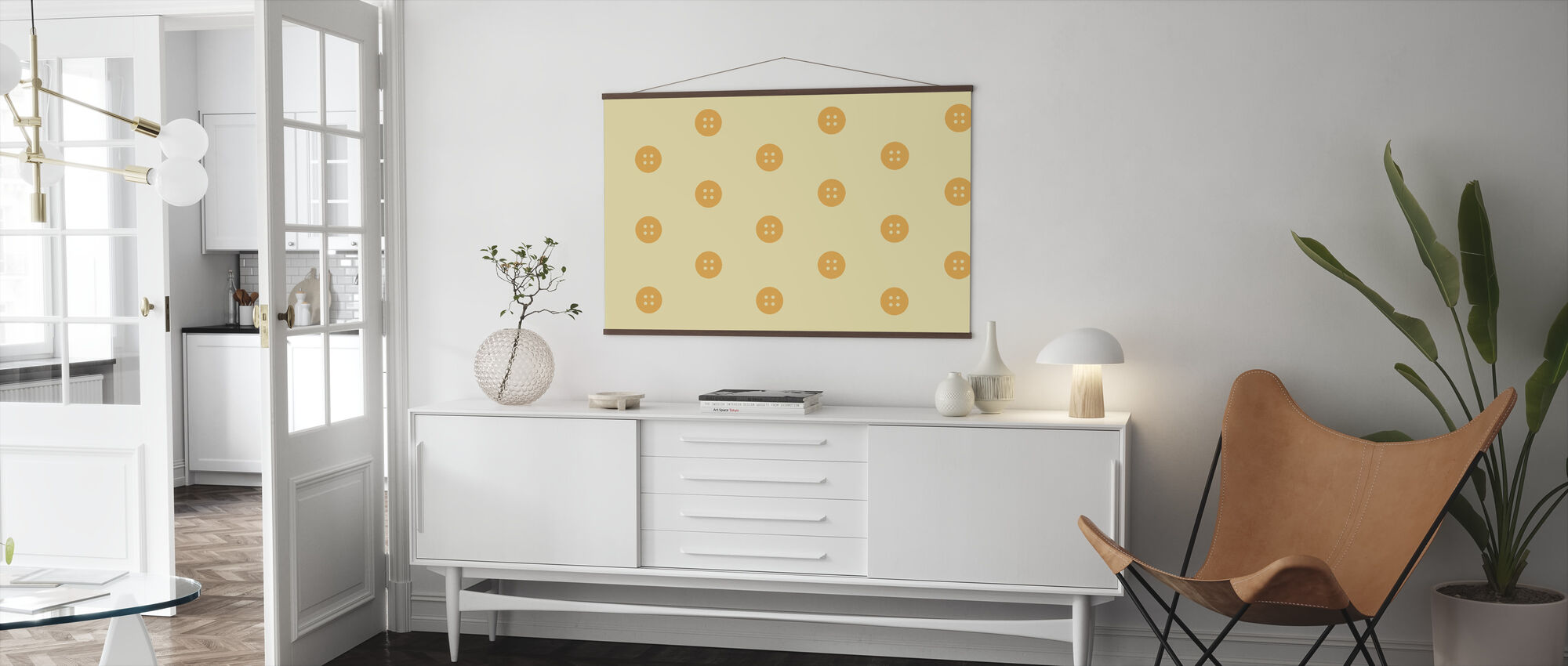Yellow Buttons - Poster - Living Room