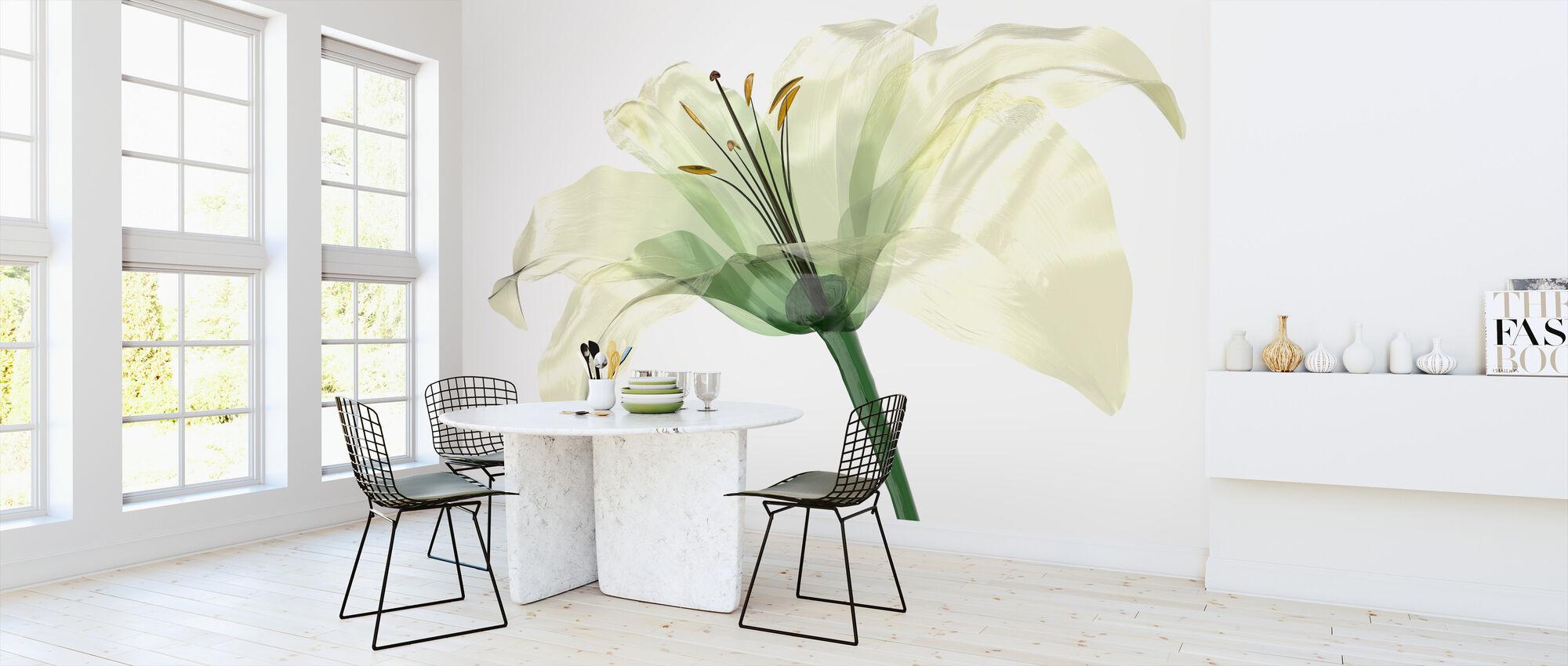 Bright Lily Flower - Wallpaper - Kitchen