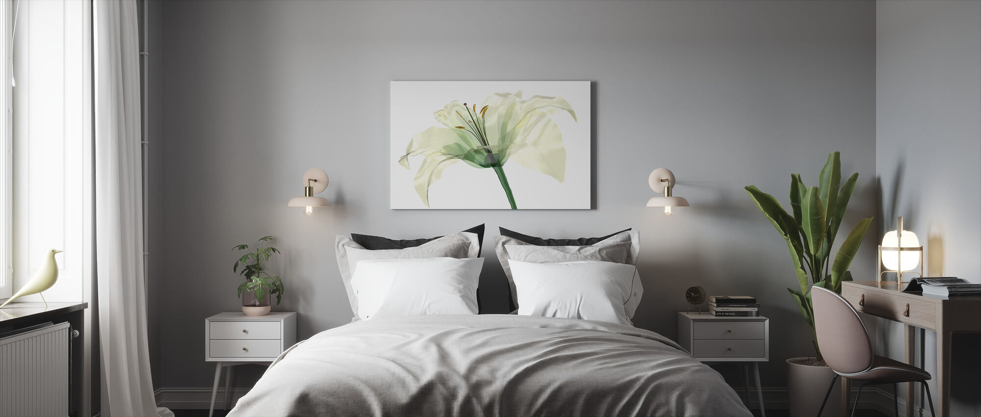 Bright Lily Flower - Canvas print - Bedroom