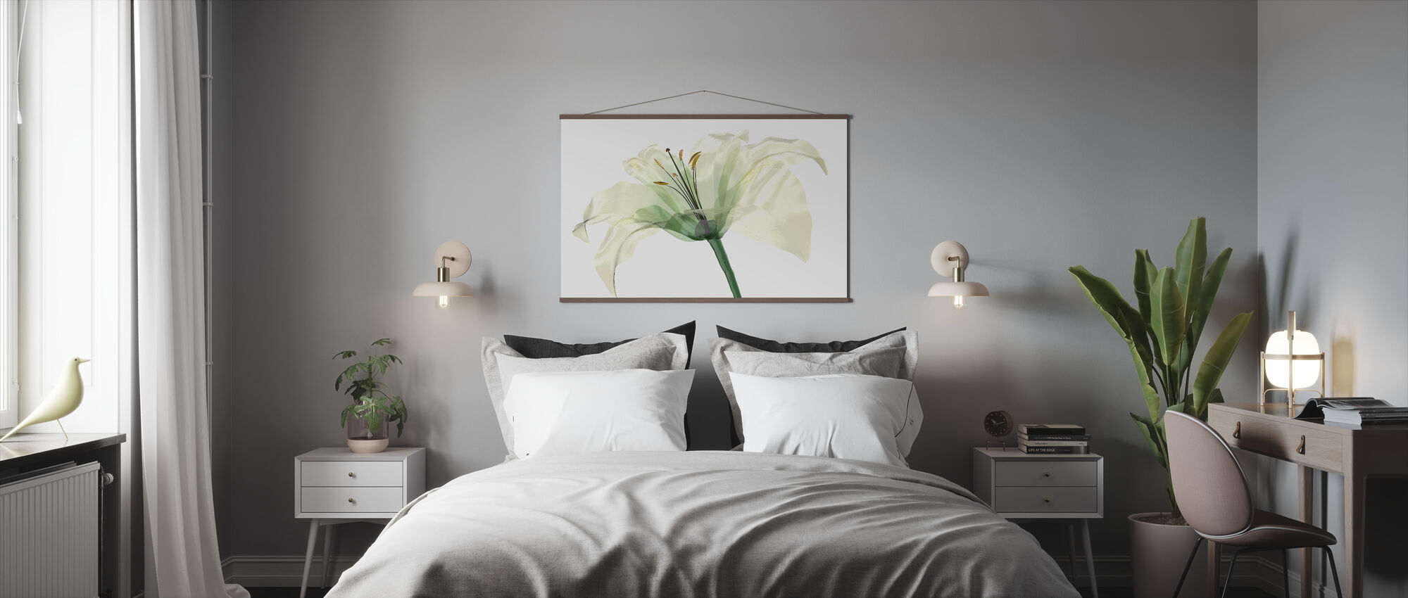 Bright Lily Flower - Poster - Bedroom