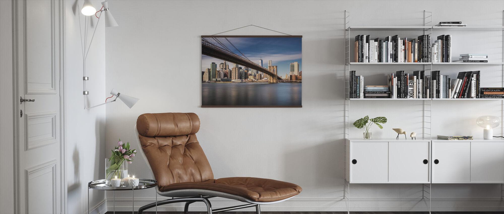Downtown Bridge - Poster - Living Room