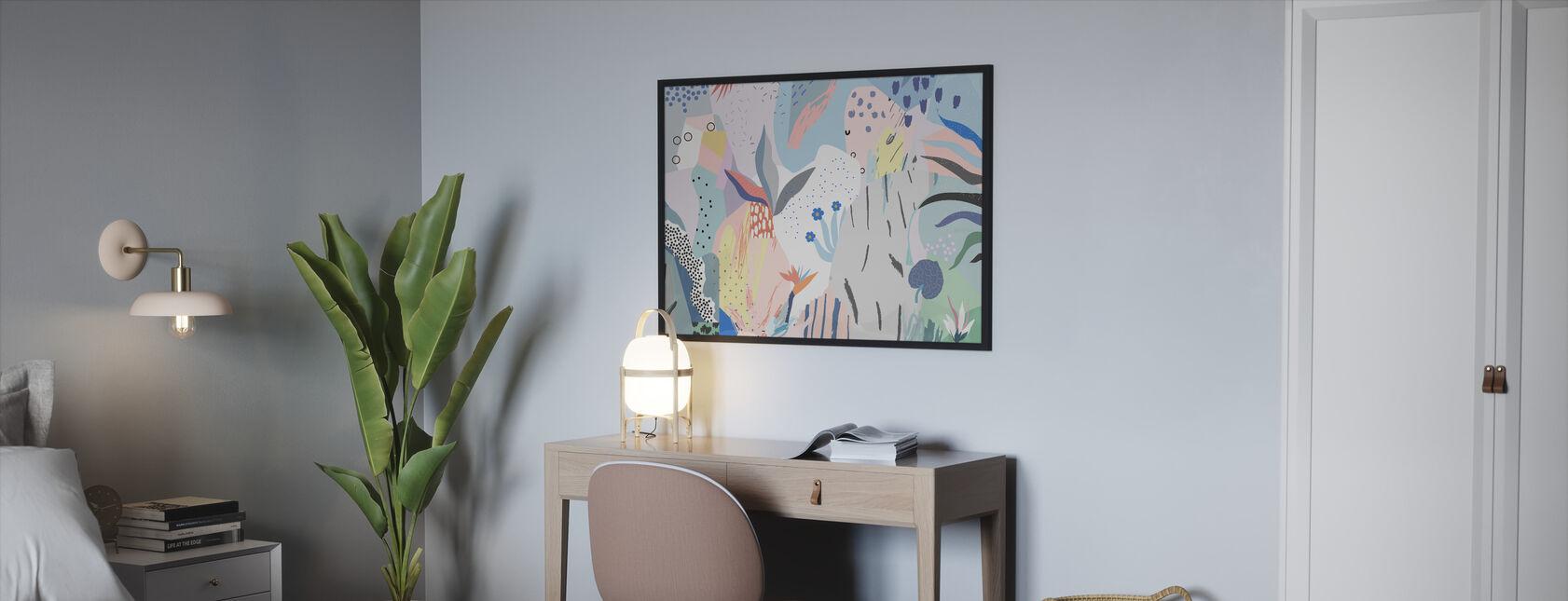Flowery - Framed print - Bedroom