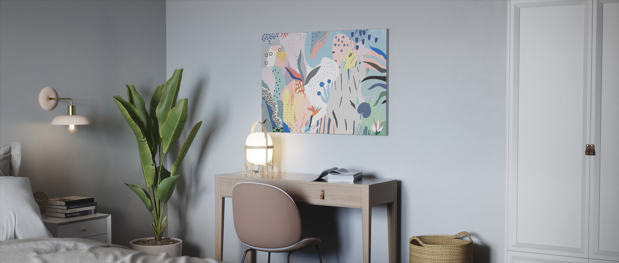 Flowery - Canvas print - Office