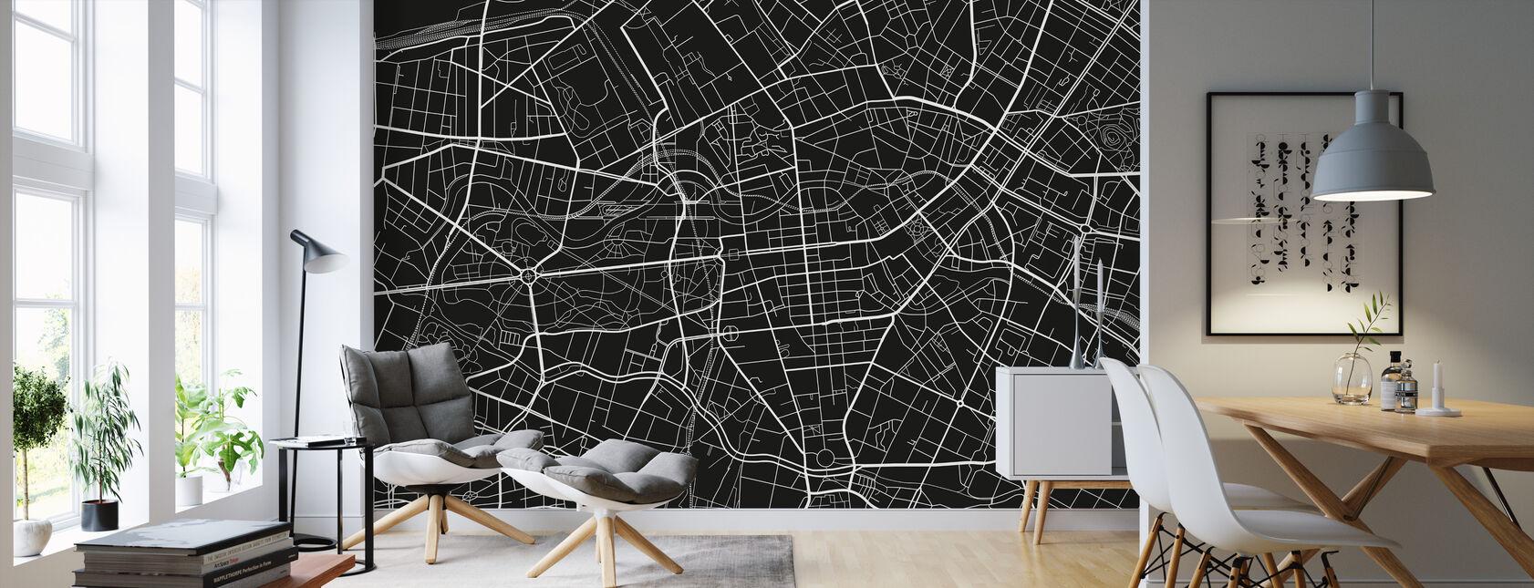 Berlijn Kaart - Behang - Woonkamer
