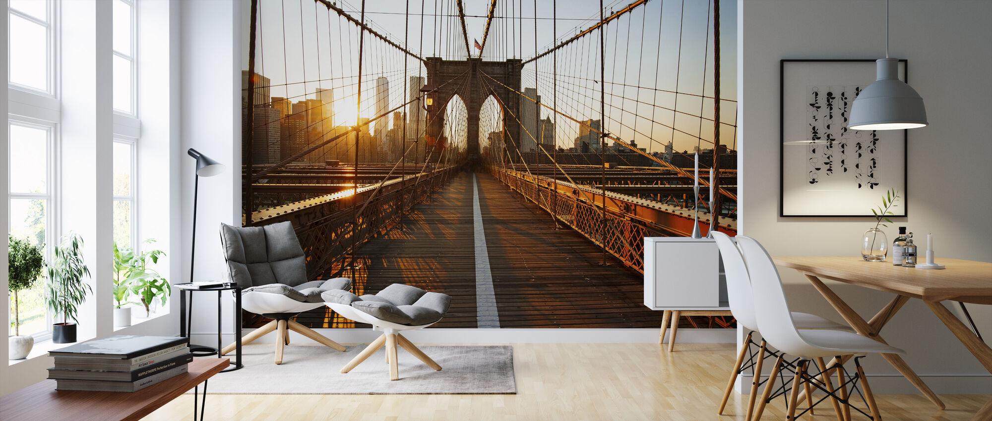 Brooklyn Bridge zonsopgang - Behang - Woonkamer