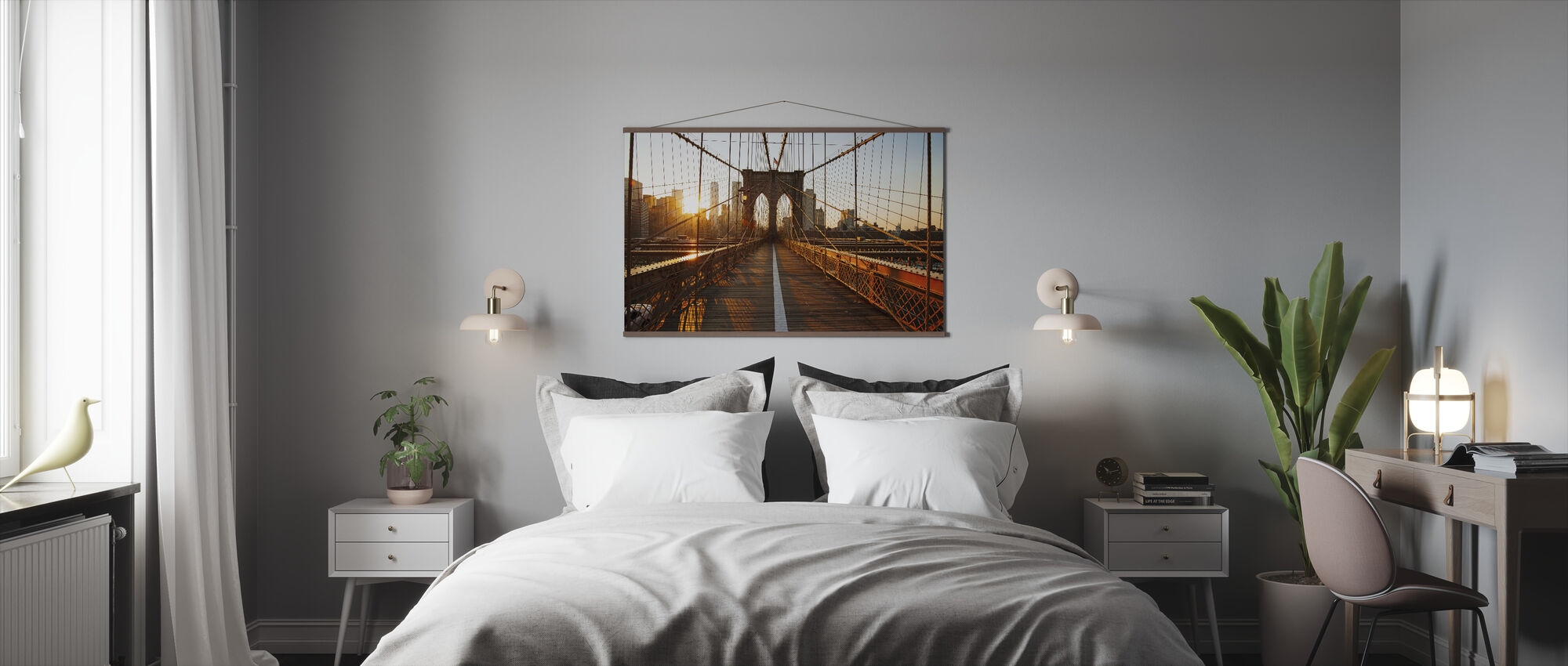 Brooklyn Bridge Sunrise - Juliste - Makuuhuone