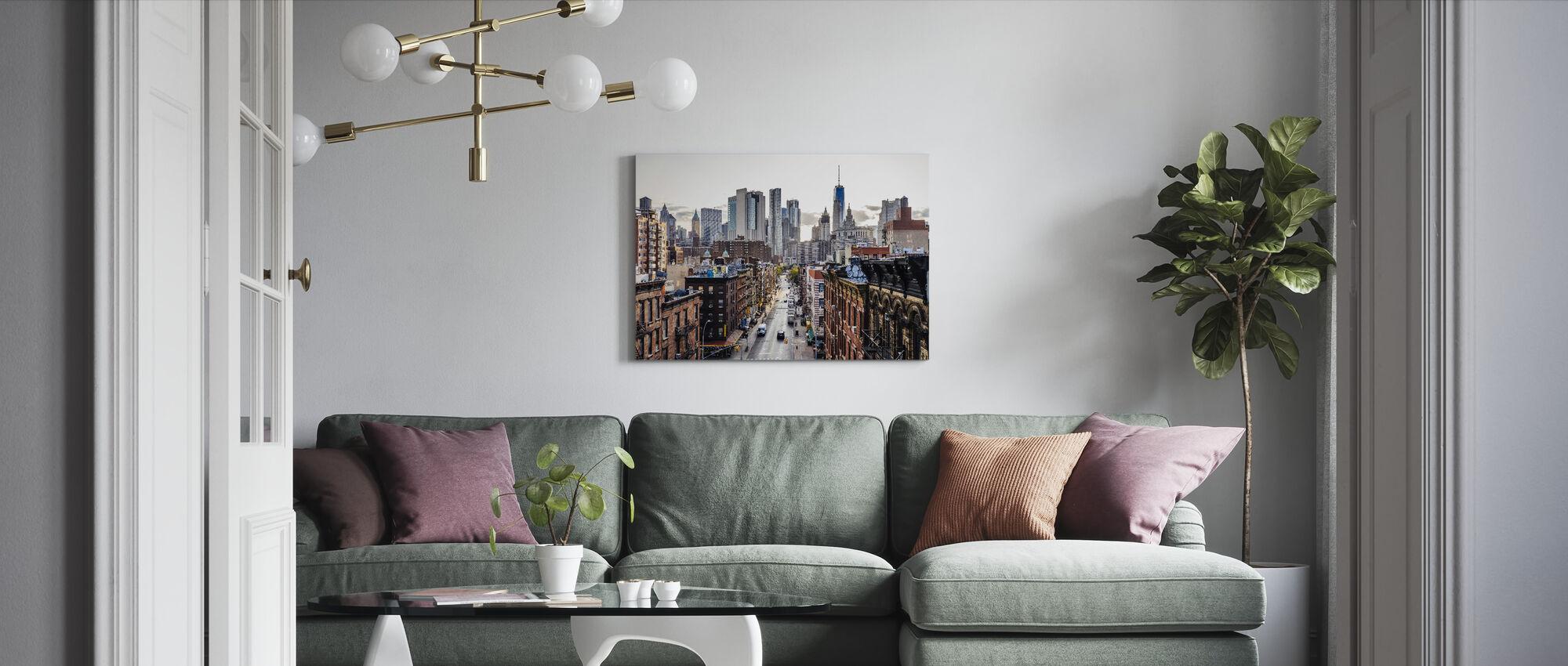 Nedre Manhattan - Canvastavla - Vardagsrum