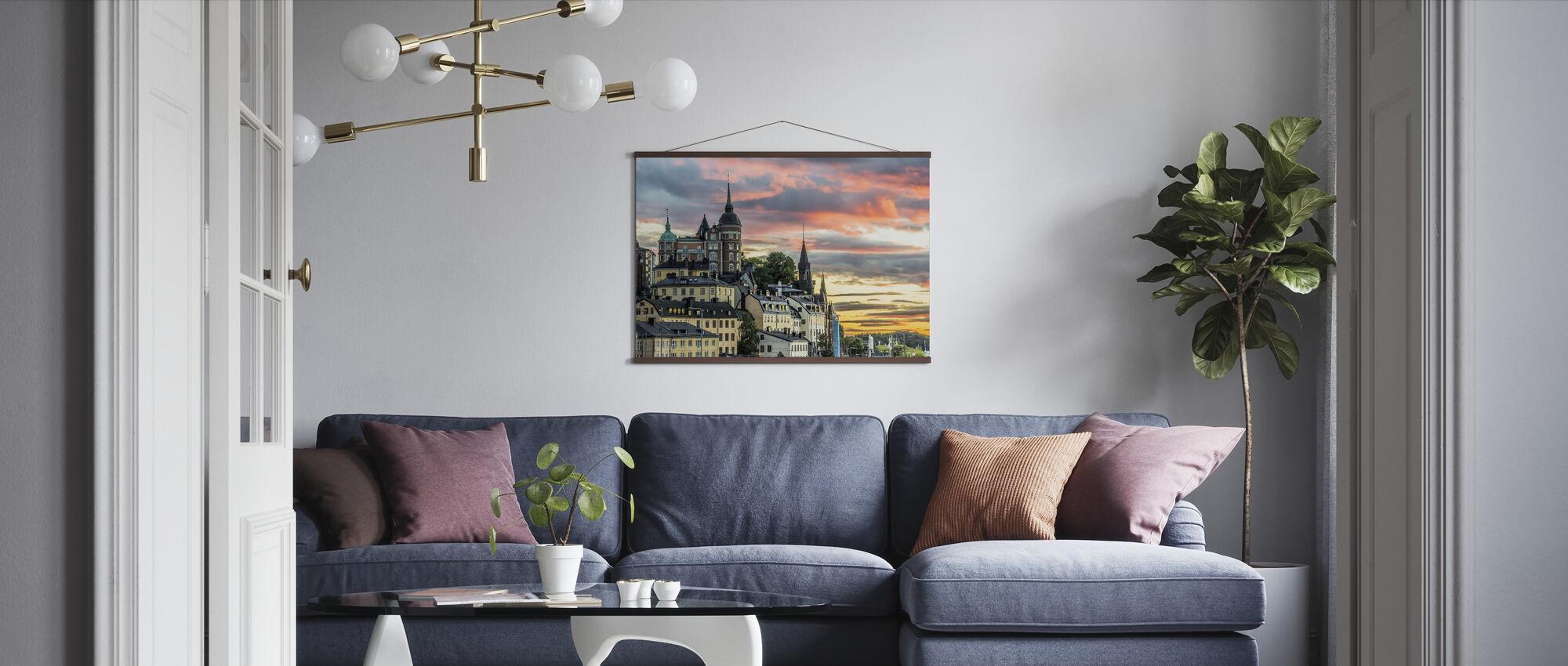 Stockholm Sunset - Poster - Living Room